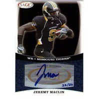 JEREMY MACLIN 2009 SAGE Autograph Platinum 23/50 Rookie Auto Card Eagles Tigers