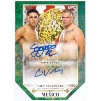 VELASQUEZ ERIK PEREZ 2014 Topps Bloodlines UFC MMA /25 Dual Auto + Relic Card