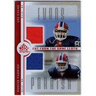 LEE EVANS ROSCOE PARRISH 2005 UD Reflections Dual Game Jersey Card Buffalo Bills