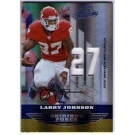 LARRY JOHNSON 2008 Absolute Memorabilia Gridiron Force Jersey Auto Card 3/25