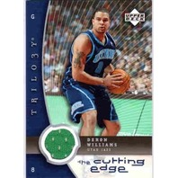 DERON WILLIAMS 2005-06 Upper Deck Trilogy The Cutting Edge #DE Game Jersey Card
