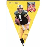 BRETT FAVRE 1996 Playoff Pennants Die-Cut Felt Insert Card #1