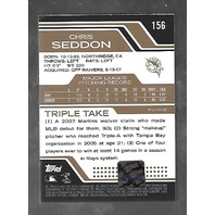 CHRIS SEDDON 2008 Topps Triple Threads RC auto patch /25 4 color