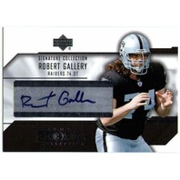 ROBERT GALLERY 2004 UD Diamond Pro Sigs Signature Collection Card Auto BV$20