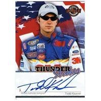 TODD KLUEVER 2007 Wheels Thunder Strokes Autograph Auto Card BV$20