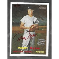 TOMMY BYRNE 2006 Topps Heritage Certified Autograph Issue /57 red ink auto