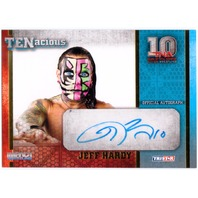 JEFF HARDY 2012 TRISTAR TNA TENacious Impact Wrestling Auto Gold /100 Card