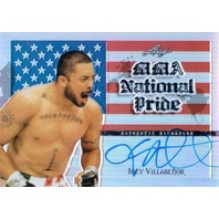 JOEY VILLASENOR 2011 Leaf Metal National Pride UFC MMA Auto Silver 2/25 Card