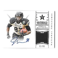 JORDAN MATTHEWS 2015 National Treasure Collegiate Materials patch auto /99 Bills