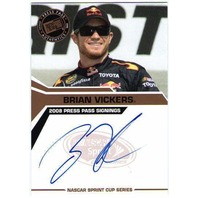 BRIAN VICKERS 2008 Press Pass Signings Bronze Autograph Auto On Card BV$15