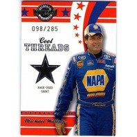 MICHAEL WALTRIP 2008 Wheels Cool Threads Race Shirt Card /285 NASCAR NAPA