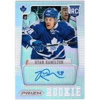 RYAN HAMILTON 2012-13 Panini Prizm Rookie Refractor Auto Card 12/13 Autograph