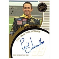 ERIK DARNELL Press Pass Signings Gold Autograph Auto 9/50 Card BV$40 CTS Truck