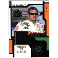 J.J. YELEY 2004 Press Pass Top Prospects Race Used Tire Rubber /350 Card