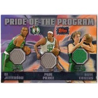 PIERCE JEFFERSON COWENS 2006-07 Topps Pride Program Jersey Card PR99 BV$30
