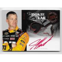 Jeff Burton NASCAR 2012 Press Pass Redline Rookie Year auto #RY-JB firesuit glove  (X)