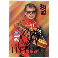 CHAD LITTLE 1995 Press Pass VIP Autograph Signature On Card Auto NASCAR BV$20