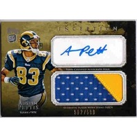 AUSTIN PETTIS 2011 Topps Inception Jumbo Prime Patch Autograph Rookie Card /599