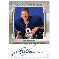 CADE McNOWN 1999 Upper Deck Encore Authentics Rookie Autograph Card Auto BV$20