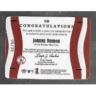 JOHNNY DAMON 2003 Fleer Platinum Name Plates Game Worn Patch /35
