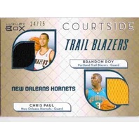CHRIS PAUL BRANDON ROY 2007-08 07/08 Luxury Box Courtside Gold Jersey Card 24/75