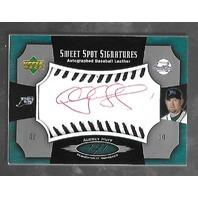 AUBRY HUFF 2005 Upper Deck Sweet Spot Signatures auto black stitch 1/1 patch