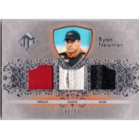 RYAN NEWMAN 2012 Total Memorabilia Triple Race Used Firesuit Glove Shoe /99 Card