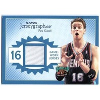 PAU GASOL 2003-04  03/04 Skybox Jerseygraphics Swatch Game Jersey Card /350