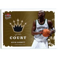 KEVIN GARNETT 2006-07 Fleer Ultra Kings of the Court Game Used Jersey Card
