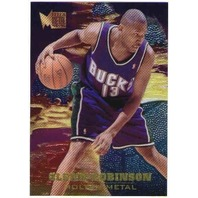 GLENN ROBINSON 1995-96 Metal Molten Metal Big Dog Card Bucks Spurs Hawks 76ers