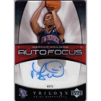 MARCUS WILLIAMS 2006-07 UD Trilogy Auto Focus Collection Rookie Auto Card Clear