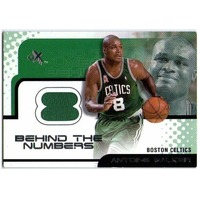 ANTOINE WALKER 2001-02 Fleer E-X Behind the Numbers Game Used Jersey Card