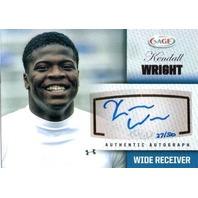 KENDALL WRIGHT 2012 SAGE Autograph Platinum Signature Rookie Card 27/50 Baylor