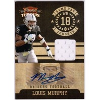 LOUIS MURPHY 2010 Panini Threads Game Day Jersey Auto Card  4/15 PANTHERS