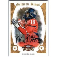 MIKE THOMAS 2009 Threads College Gridiron Kings Signed Rookie Auto 4/25 Card