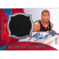 MARREESE SPEIGHTS 2008-09 Ultimate Collection Rookie Auto Jersey Card 9/60