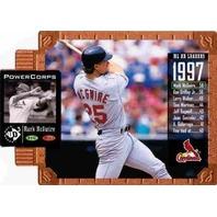 MARK MCGWIRE 1998 Upper Deck UD3 Die Cuts #140 Die-Cut Parallel Card /1000 BV$30