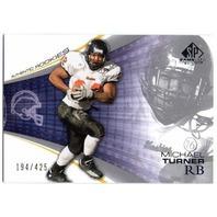 MICHAEL TURNER 2004 Upper Deck SP Game Used RC Northern Illinois Huskies 194/425