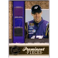 MATT KENSETH 2011 Legends Prominent Pieces Gold Tire Firesuit Sheet Metal /50