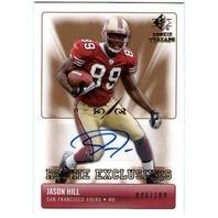 JASON HILL 2007 SP Rookie Threads Exclusive Autographs Auto Card 48/100  (x)