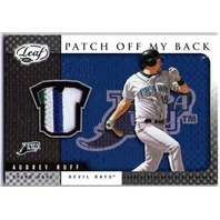 AUBREY HUFF 2005 Leaf Patch Off My Back Prime 7/50 Giants Tigers Orioles Astros