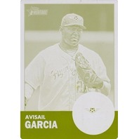 AVISAIL GARCIA 2012 Topps Heritage Minors League Printing Plate Yellow Card