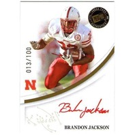 BRANDON JACKSON 2007 Press Pass Gold Rookie Autograph Auto 13/100 Card Red Ink