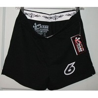 RICKY STENHOUSE Jr. #6 Women's Small - Medium Black Athletic Shorts NASCAR