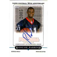 ROSCOE PARRISH 2005 Topps Rookie Premiere Autograph Signed Auto On Card BV$30