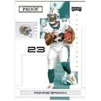 RONNIE BROWN 2007 Playoff NFL Playoffs Black Proof 5/5 Parallel Card Dolphins