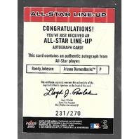 CLEMENS/MADDUX/*RANDY JOHNSON Autograph*2003 Fleer Box Score All-Star Lineup/270
