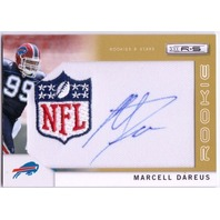 MARCELL DAREUS 2011 Rookies and Stars Rookie Patch Auto Gold NFL Logo 12/25 Card