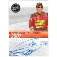 GREG BIFFLE 2007 Press Pass Nextel Cup Series Autograph Auto On Card