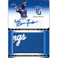 TI'QUAN FORBES 2013 Leaf Perfect Game JUMBO Jersey Patch Auto Blue Card 14/25